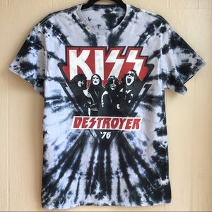KISS TIe Dye Destroyer '76 Band Tee